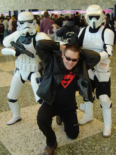 Joe versus the Storm Troopers of Wondercon