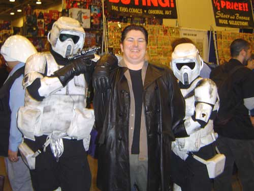 Tom arrested by the Stormtroopers of Wondercon